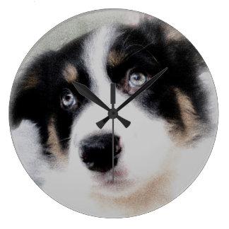 Border Collie Puppy Clock