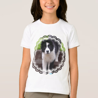 Border Collie Puppy Girl's T-Shirt