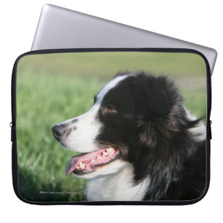 Border Collie Puppy Laying Down Laptop Sleeve