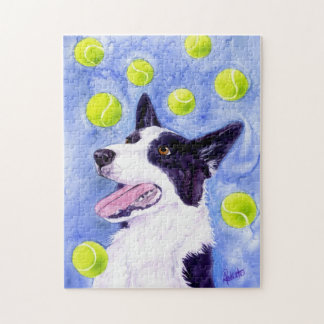 "Border Collie Puzzle - ""Magpie's Gold"""