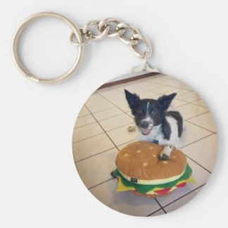 BORDER COLLIE QUEENSLAND AUSTRALIA BASIC ROUND BUTTON KEY RING