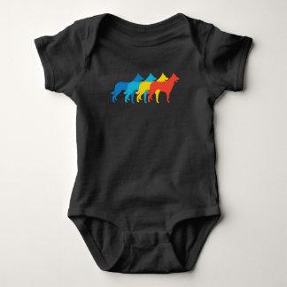 Border Collie Retro Pop Art Baby Bodysuit