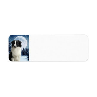 Border Collie Return Address Label