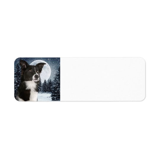 Border Collie Return Address Labels