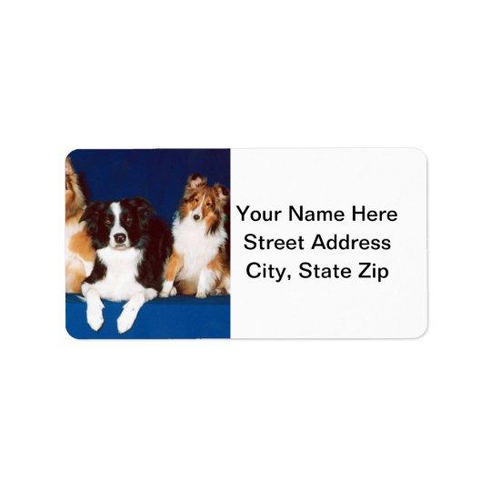Border Collie & Shelties Address Label