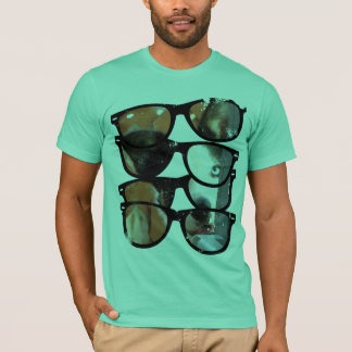 Border Collie Sun Glasses T-Shirt By Ginny