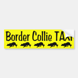 Border Collie Taxi Bumper Sticker