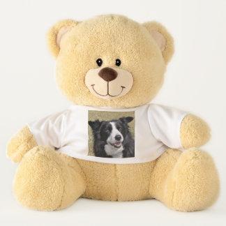 Border collie teddy bear