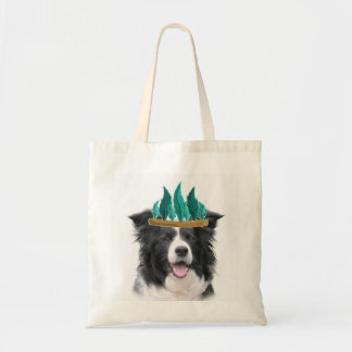 Border Collie Thanksgiving Tote~Indian Budget Tote Bag