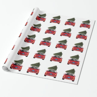 Border Collie Wrapping Paper~The Christmas Tree Wrapping Paper