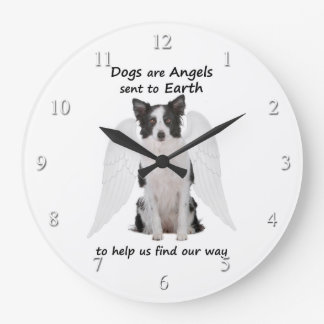Border Collies Are Angels Clock
