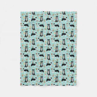 Border Collies Coffee Blanket