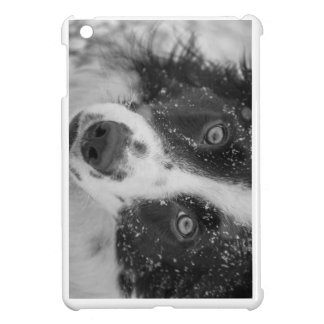 Border Collie's First Snow Case For The iPad Mini