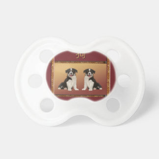 Border Collies on Asian Design Chinese New Year Dummy