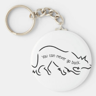 Border Collies - You Can Never Go Back Basic Round Button Key Ring