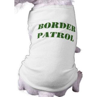 Border Patrol Sleeveless Dog Shirt