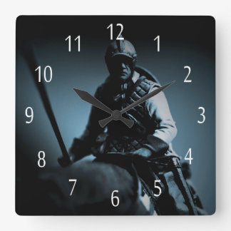 Border reiver Square Wall Clock