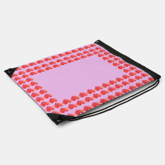 Border template change color add name event img drawstring bags