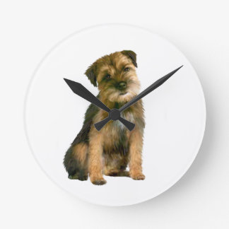 Border Terrier (A) Round Clock
