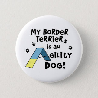 Border Terrier Agility Dog Button