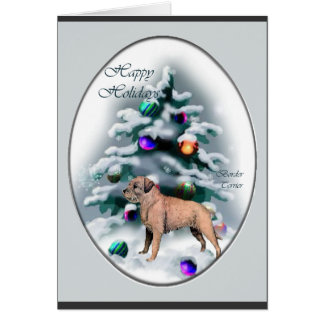 Border Terrier Christmas Gifts Card