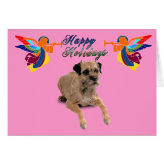 Border Terrier Christmas Greeting Card