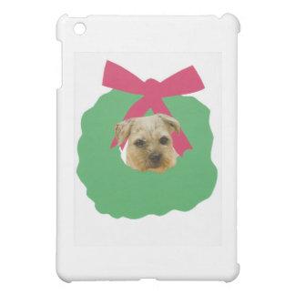 Border Terrier Christmas Wreath Case For The iPad Mini