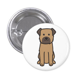 Border Terrier Dog Cartoon 3 Cm Round Badge