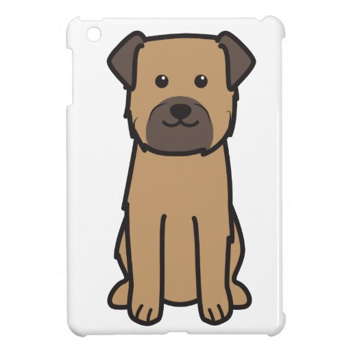 Border Terrier Dog Cartoon Case For The iPad Mini