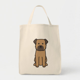 Border Terrier Dog Cartoon Tote Bag