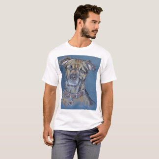 Border terrier dog pet portrait T-Shirt