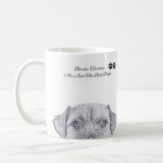 Border Terrier Dog Sketch, Gift Mug