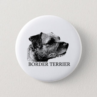 Border Terrier Drawing 6 Cm Round Badge