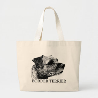 Border Terrier Drawing Large Tote Bag