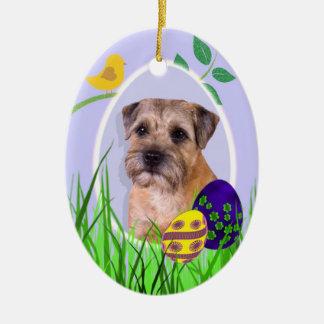 Border Terrier Easter Ornament
