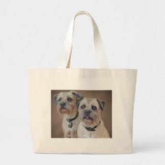 Border Terrier Large Tote Bag Jumbo Tote Bag