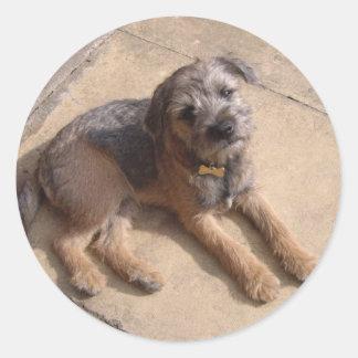 Border Terrier Puppy Round Sticker