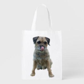 Border Terrier reusable grocery bag