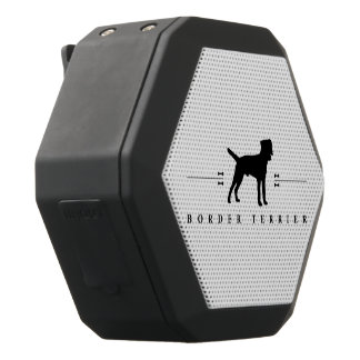 Border Terrier silhouette -1- Black Boombot Rex Bluetooth Speaker