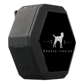 Border Terrier silhouette -2- Black Boombot Rex Bluetooth Speaker