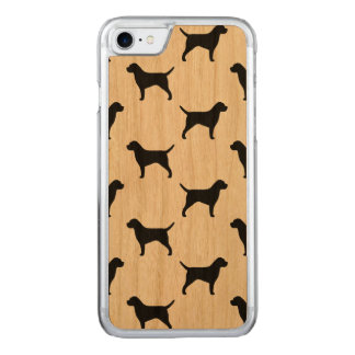 Border Terrier Silhouettes Pattern Carved iPhone 8/7 Case