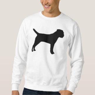 Border Terrier silo black Sweatshirt