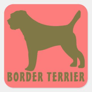Border Terrier Square Stickers