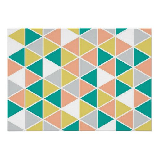 Bordered Triangle Poster