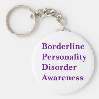 Borderline Personality Disorder Aw... - Customized Basic Round Button Key Ring