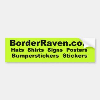 BorderRaven.com Bumpersticker Bumper Sticker