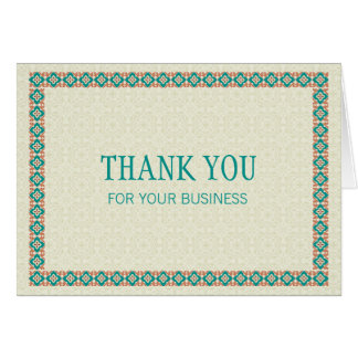 Borders & Patterns 3 Thank You For Your Business Card