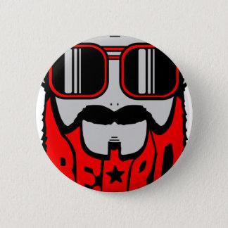 bore red 6 cm round badge