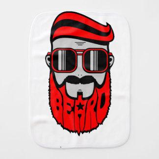 bore red burp cloth