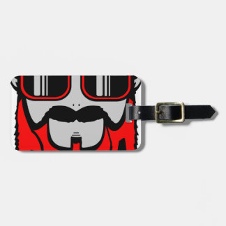 bore red luggage tag